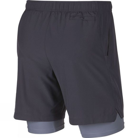 Nike Mens Challenger 7in 2in1 Perferated Short  Gridiron/Ashen Slate