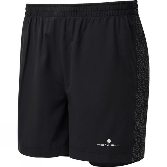 Ronhill Mens Momentum Afterlight Twin Shorts All Black