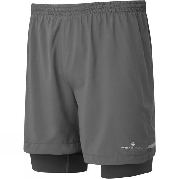 "Ronhill Men's Momentum Twin 5"" Short Charcoal"