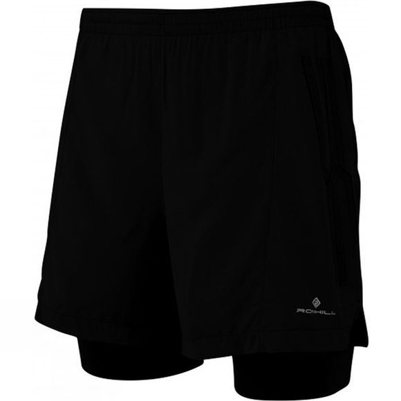 Ronhill Men's Infinity Marathon Twin Short All Black