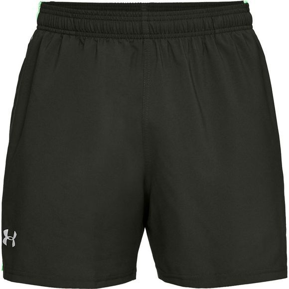 "Under Armour Launch SW 5"" Short Artillery Green/Green Typhoon"