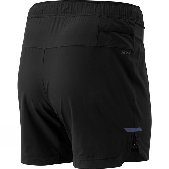 New Balance Men's Q Speed Run Crew Short Black