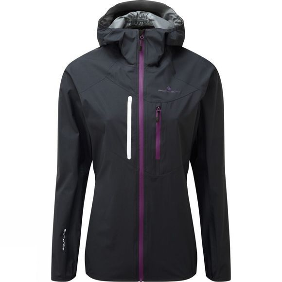 Ronhill Women's Vizion Rainfall Jacket Black/Grape Juice