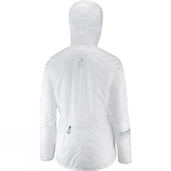 Salomon Womens Lightning Wind Hoodie White