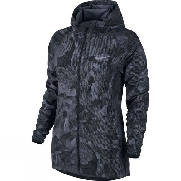 Nike Women's Essential Hooded Running Jacket Black/Black