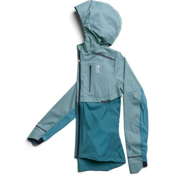 On Womens Weather Jacket Sea/Storm