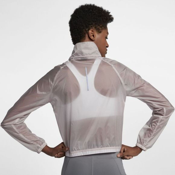 Nike Womens Transparent Running Jacket Particle Rose
