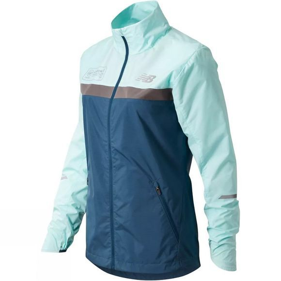 New Balance Womens London Edition Marathon Windcheater Jacket Light Reef