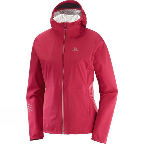 Salomon Womens Lightening WP Jacket Rio Red