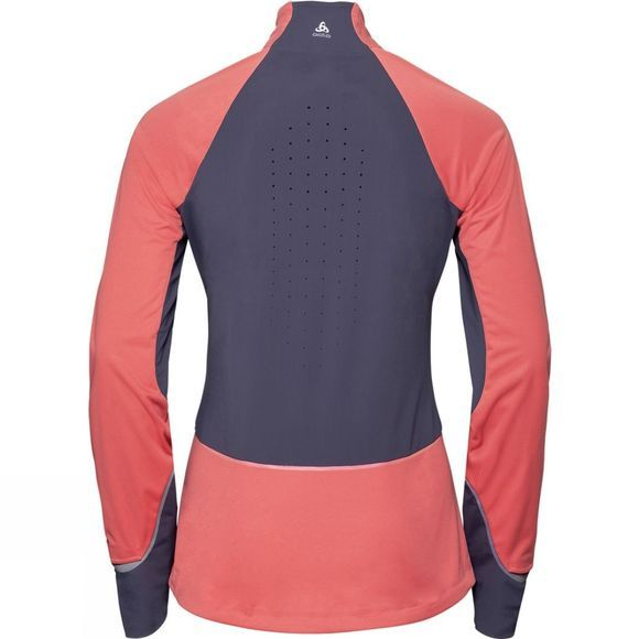 Odlo Womens Zeroweight Pro Jacket Faded Rose - Odyssey Gray