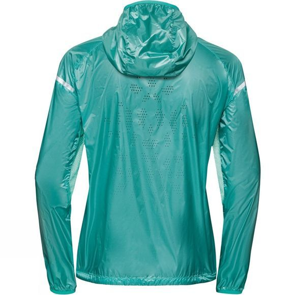 Odlo Womens Zeroweight Pro Jacket Pool Green