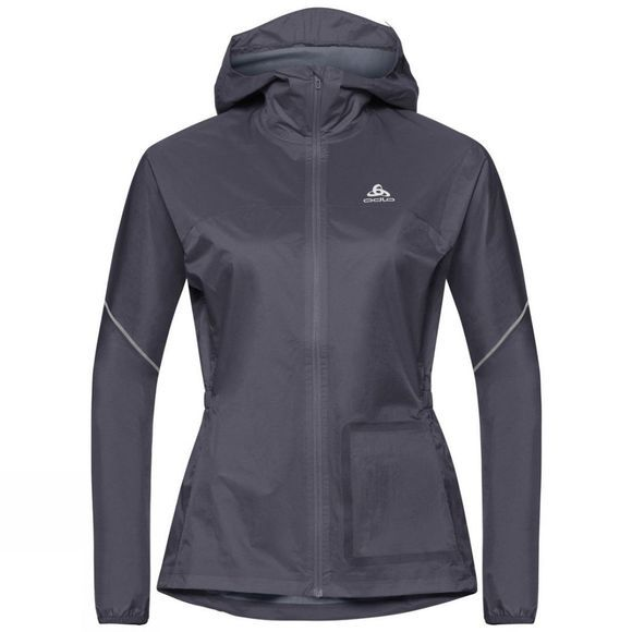 Odlo Womens Zeroweight Rain Warm Jacket Odyssey Gray