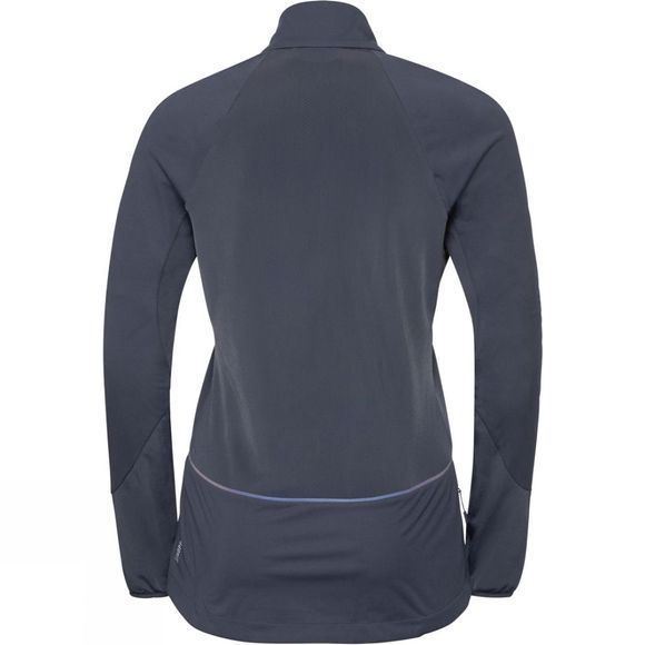 Odlo Womens Zeroweight Windproof Warm Jacket Odyssey Gray