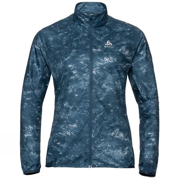Odlo Womens Zeroweight Jacket Blue Wing Teal - AOP Fw19