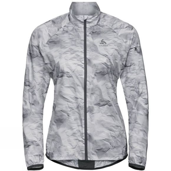 Odlo Womens Zeroweight Jacket Odlo Graphite Grey - Paper Print Ss19