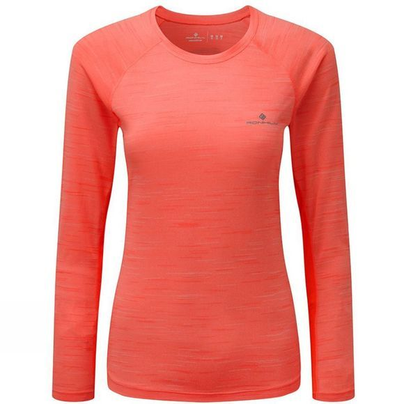 Ronhill Womens Momentum Long Sleeve Tee Neon Candy Marl