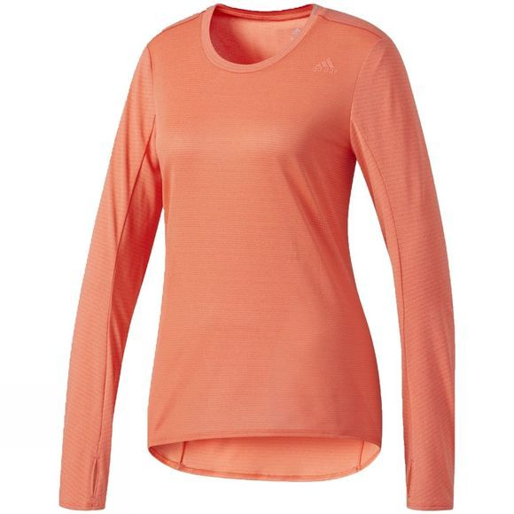 Adidas Womens Supernova Long Sleeve Tee  Easy Coral S17