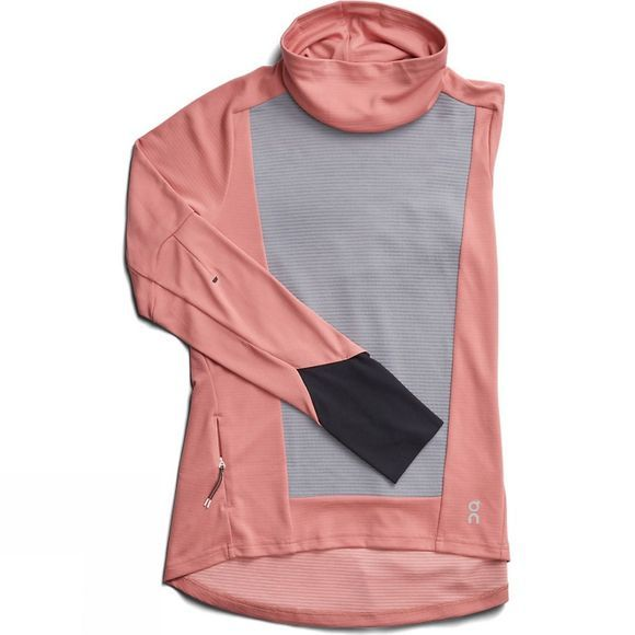 On Womens Long Sleeve Clima-Shirt Dust Rose Fossil