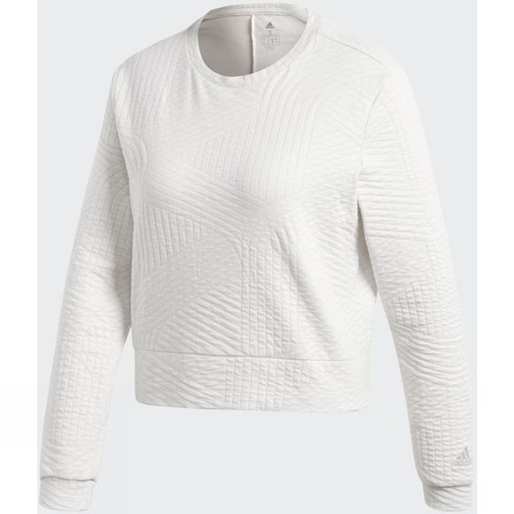 Adidas Womens Climalite Performance Sweatshirt Chalk White