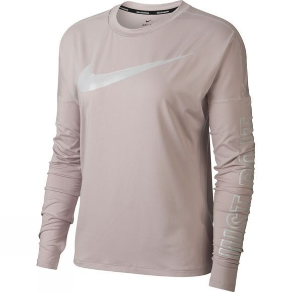 Nike Womens Dry Element Running Top Particle Rose