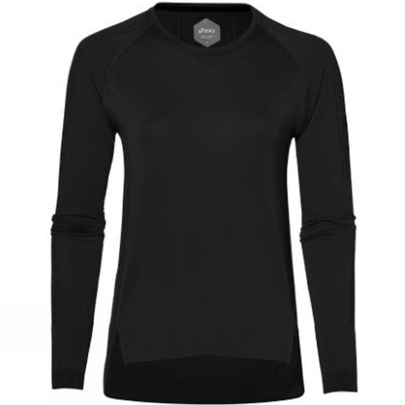 Asics Womens Long Sleeve Seamless Top Performance Black