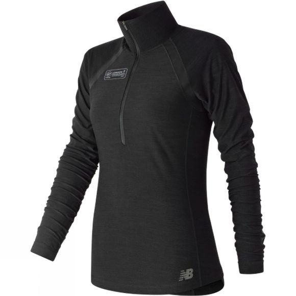 New Balance Womens Anticipate London Edition Half Zip Top Black
