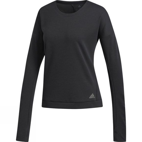 Adidas Women's Supernova Run Long Sleeve Crew Black/Coloured Heather