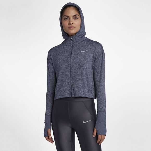 Nike Women's Full Zip Hoodie Gridiron/Ashen Slate Heather