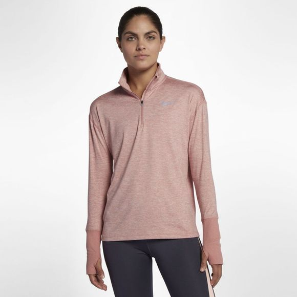 Nike  Women's Half Zip Top Rust Pink/Heather