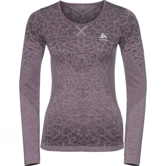 Odlo Womens Blackcomb BL Long Sleeve Crew Neck Top Dark Purple/Mid Purple