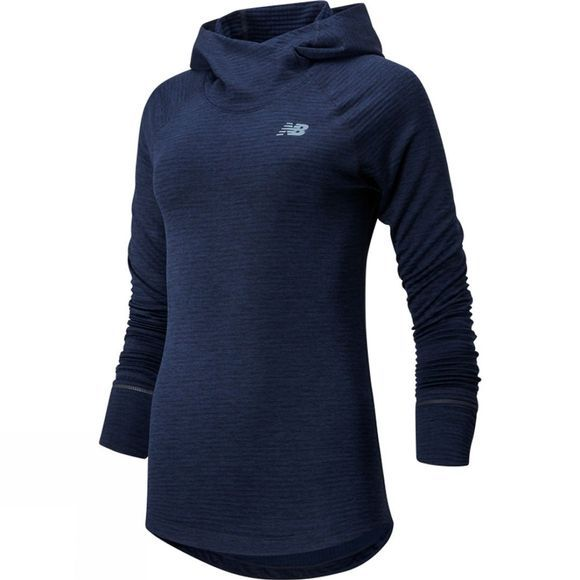 New Balance Women's Impact Run Grid Hoodie Eclipse Heather