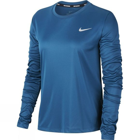 Nike Womens Miler Long Sleeve Top Valerian Blue
