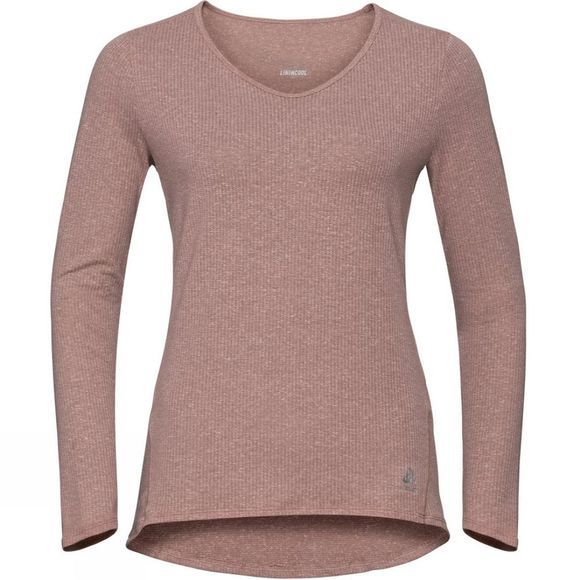 Odlo Womens Lou Linencool Long-Sleeve Top Woodrose Melange