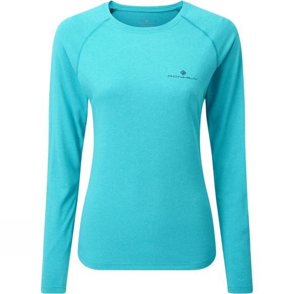 Ronhill Womens Core L/S Tee Spa Green Marl/Deep Navy