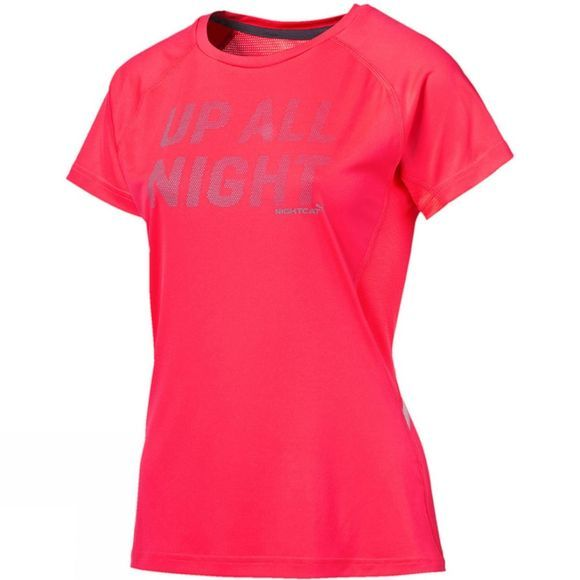 Puma Women's NightCat Logo Short Sleeve Tee Red
