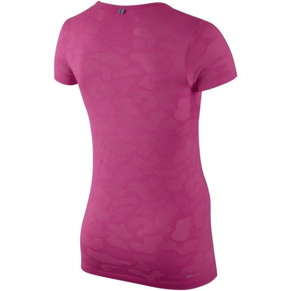 Nike Women's Dri-Fit Short Sleeve Contrast Top Mid Pink/Silver