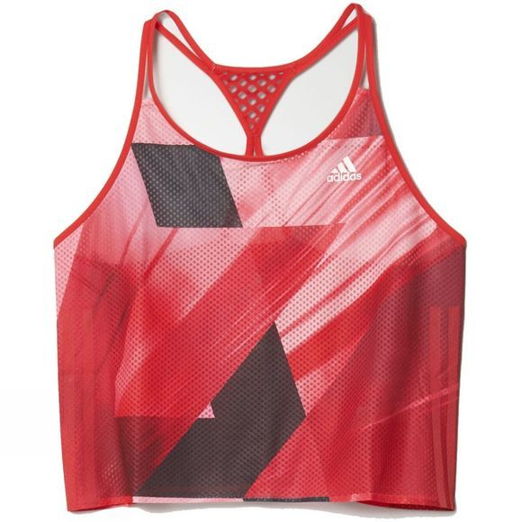 Adidas Women's Adizero Singlet WHITE/RAY RED F16