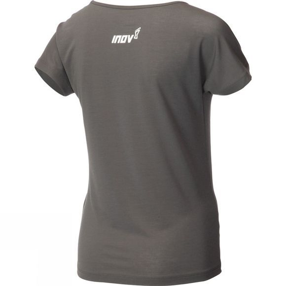 Inov-8 Womens AT/C Dri Release Short Sleeve Tee DARK GREY