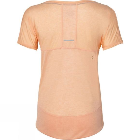 Asics Womens Crop Short Sleeve Top Apricot Ice