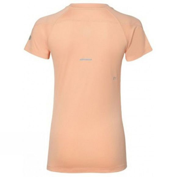 Asics Womens V-Neck Short Sleeve Top Apricot Ice