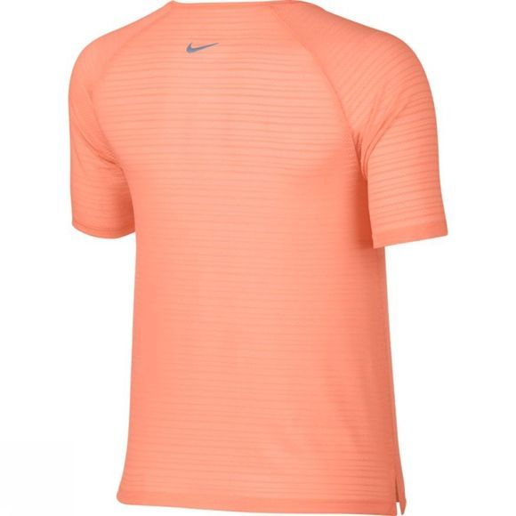 Nike Women's Miler Top Short Sleeve Breathe Crimson Pulse Heather