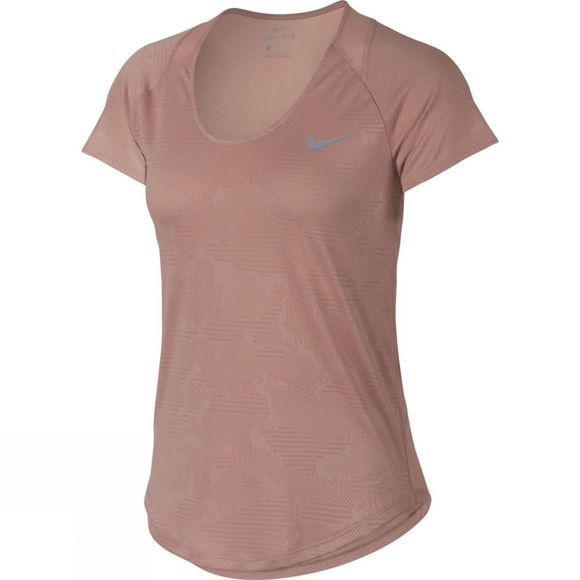Nike   Women's 10k Jacquard Short Sleeve Top  Rust Pink