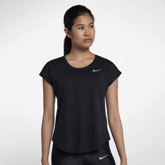 Nike   Women's Tailwind Top Short Sleeve Cool  Black