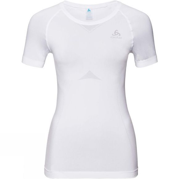 Odlo Women's Performance Light SUW Crew Neck Short Sleeve Top White