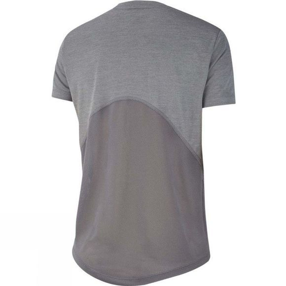 Nike Women's Miler Short Sleeve Top V Neck  Gunsmoke/Heather