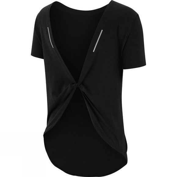 Nike Women's Twist Short Sleeve Top Black