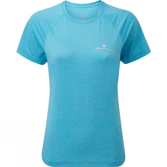 Ronhill Womens Stride Short Sleeve Tee Sky Blue Marl