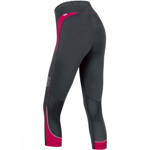 Gore Running Wear Women's Essential Lady 3/4 Tights Black          /Mid Pink