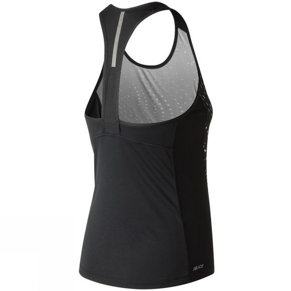 New Balance Womens Ice Printed Tank Speed Glitch/Black