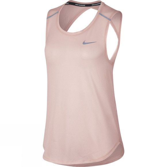Nike Women's Breathe Running Tank Sunset Tint